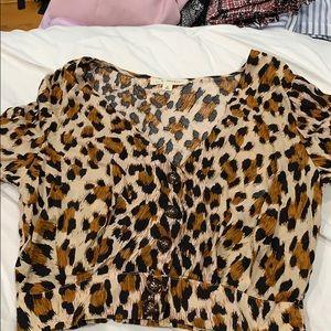 leopard print button up shirt